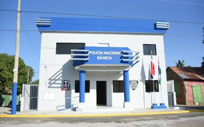 Comisión Presidencial de Desarrollo Provincial entrega moderno destacamento policial en Elías Piña